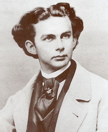 Ludwig II, photograph by Joseph Albert, 1865